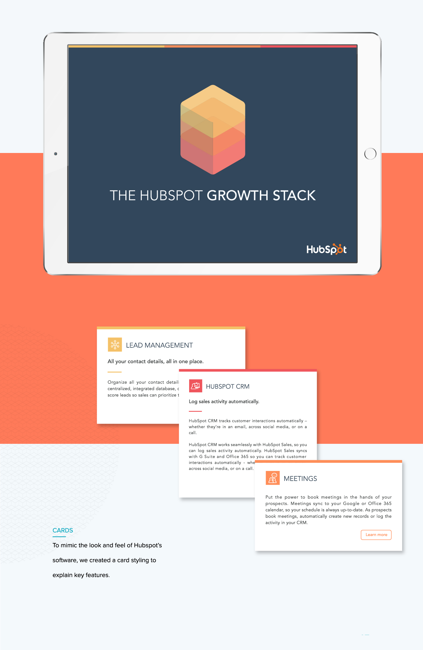 Sales Collateral Design for HubSpot | Form + Function Portfolio