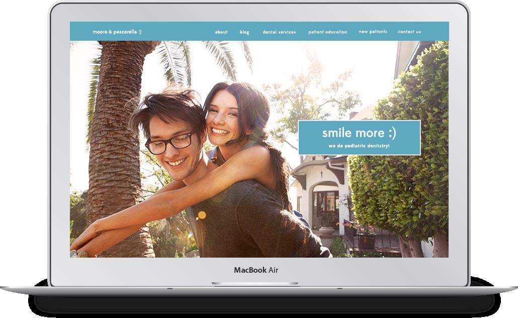 B2B website design example.