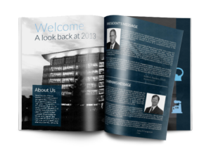 annual report design example