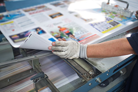 printing and proofing an annual report design