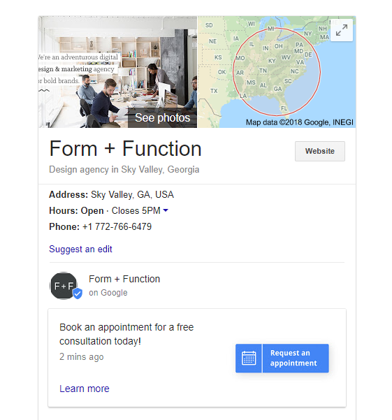 This free google posts template pack includes posts that look like buttons as well