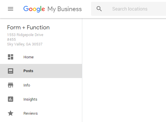Where to create a Google Post in your Google my Business profile