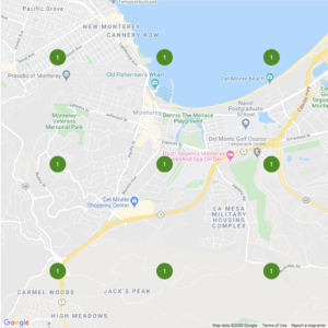example of a map search result