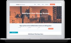 B2B website design project for HubSpot User Groups