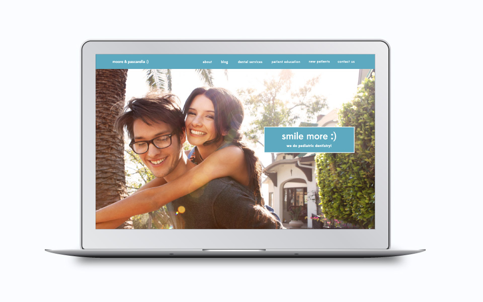 dental website example of a homepage